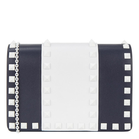 Rockstud Leather Crossbody Bag, ${color}
