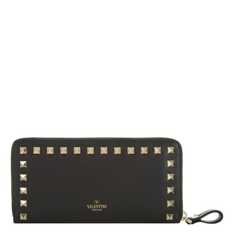 Rockstud Zip-Around Wallet, ${color}