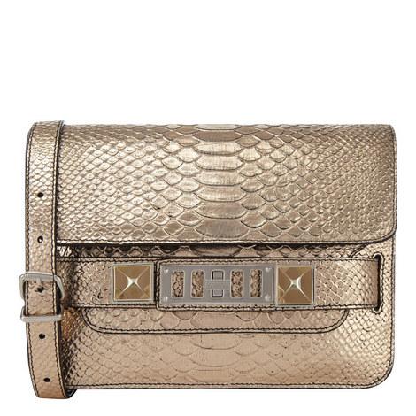 Classic Python Shoulder Bag, ${color}