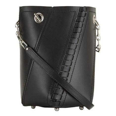 Hex Leather Bucket Bag Mini, ${color}