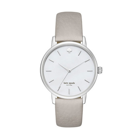 Metro Saffiano Leather Watch, ${color}