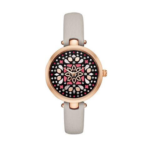 Embellished Face Leather Watch, ${color}