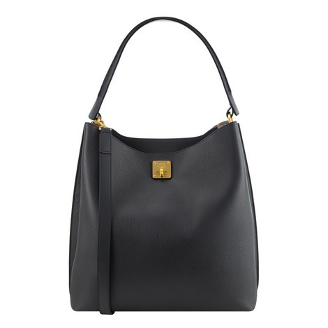 Milla Leather Hobo Large, ${color}