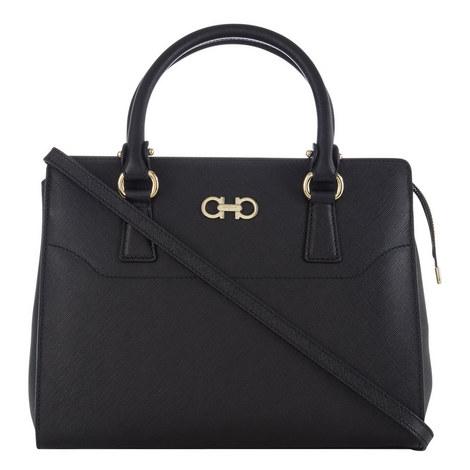 Beky Leather Tote Bag Medium, ${color}