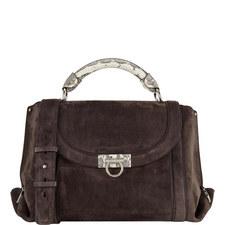 Sofia Suede Flap Bag Medium