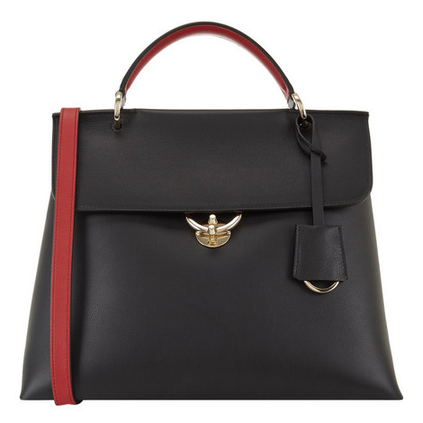 Jet Set Leather Tote, ${color}