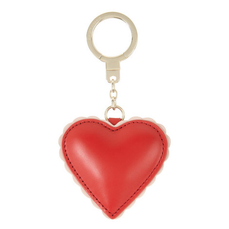 Leather Heart Keyring, ${color}