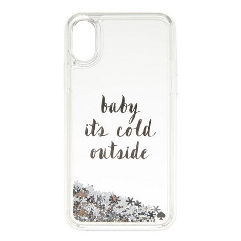 Baby It's Cold Outside Glitter iPhone X Case, ${color}