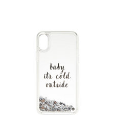 Baby It's Cold Outside Glitter iPhone X Case