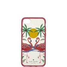 Jewelled Flamingo iPhone 8 Case