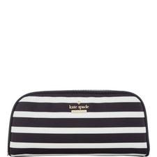Berrie Striped Cosmetic Bag