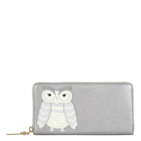 Star Bright Owl Lacey Zip-Around Wallet, ${color}