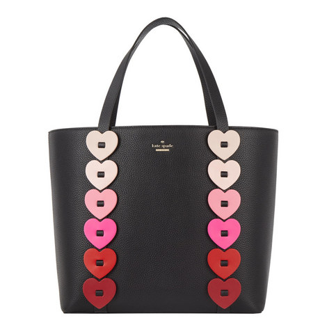 Yours Truly Ombre Heart Tote, ${color}