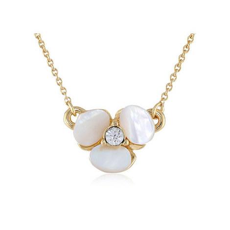 Disco Pansy Pendant Necklace, ${color}