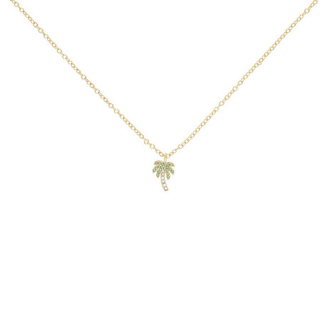 Crystal Palm Tree Pendant Necklace, ${color}