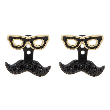 Dress the Part Moustache Earrings, ${color}