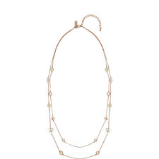 Double Layer Pearl Station Necklace