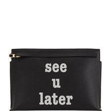 See You Later Clutch Bag