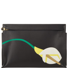 Leather Lily Clutch Bag