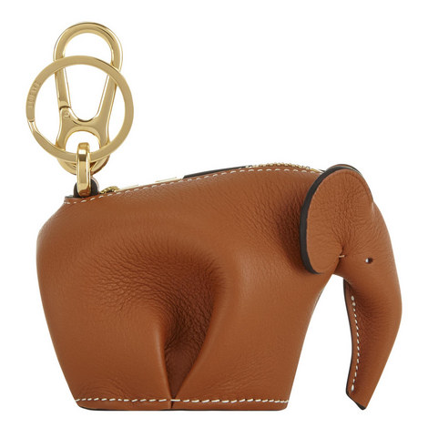 Leather Elephant Keyring Coin Purse, ${color}