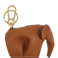 Leather Elephant Keyring Coin Purse