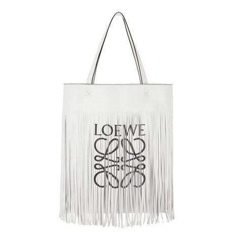 Vertical Tote Fringe Bag, ${color}