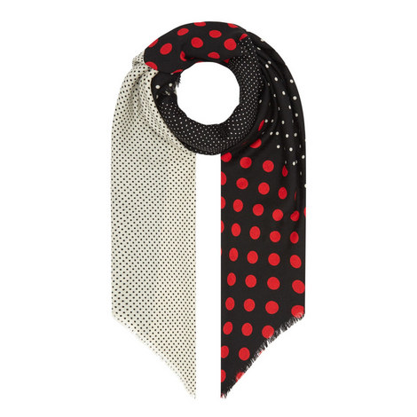 Multi-Dot Wool Scarf, ${color}