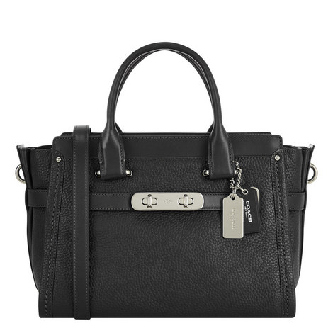Swagger Pebbled Leather Bag, ${color}