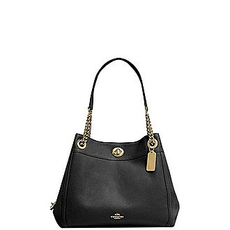 Edie Turnlock Shoulder Bag
