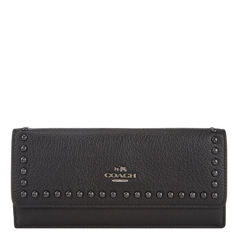 Studded Flap Wallet, ${color}
