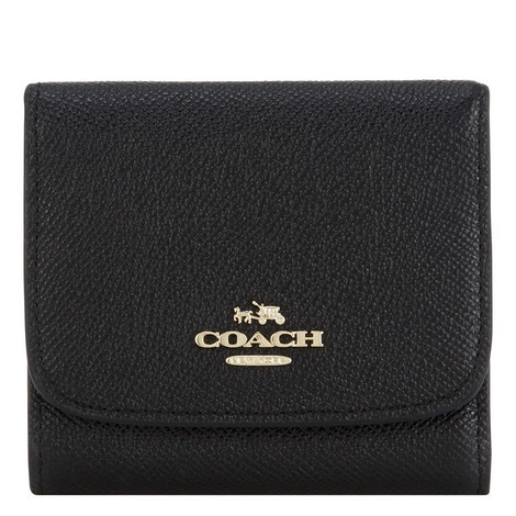 Leather Double Flap Wallet Small, ${color}