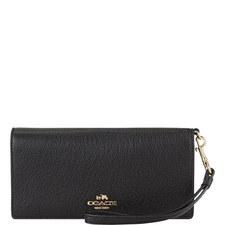 Slim Pebbled Leather Wallet
