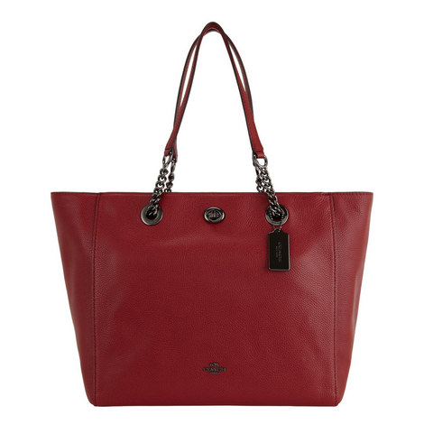 Turnlock Chain Tote , ${color}