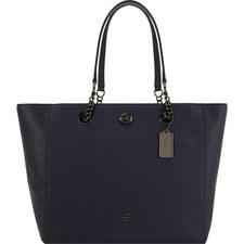 Turnlock Chain Strap Tote Bag