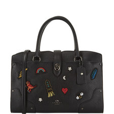 Mercer Satchel Appliqué Bag