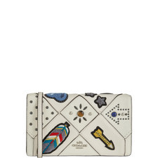 Foldover Embroidered Crossbody Bag