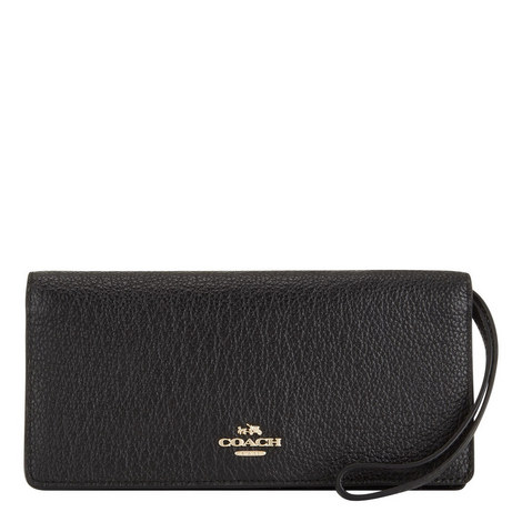 Slim Pebbled Leather Wallet, ${color}