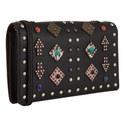 Foldover Rivet Crossbody Bag, ${color}