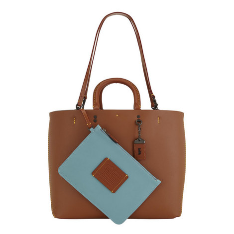 Linked Leather Rogue Tote , ${color}