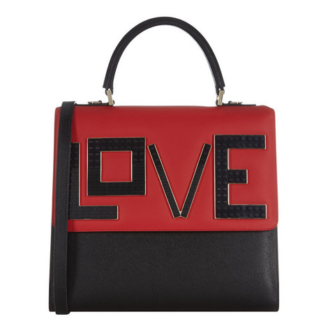 Top Handle Love Bag Large, ${color}
