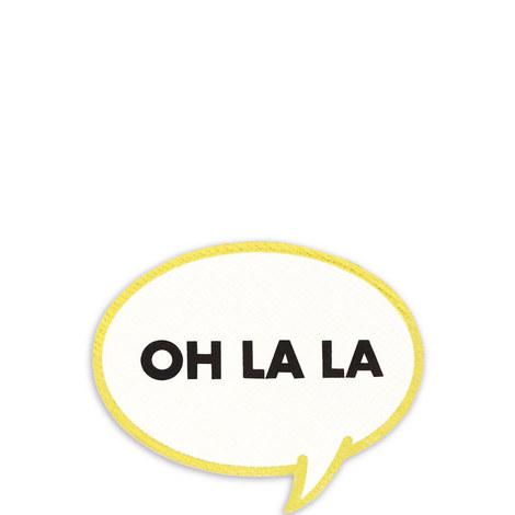 Ooh La La Iron-On Patch, ${color}