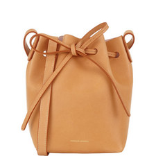 Leather Bucket Bag Mini