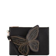 Flossie Studded Butterfly Pochette