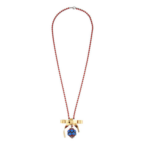 Strass Bow Necklace, ${color}