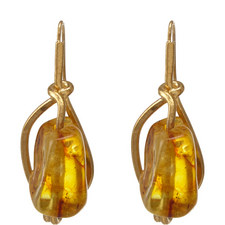 Small Amber Earrings