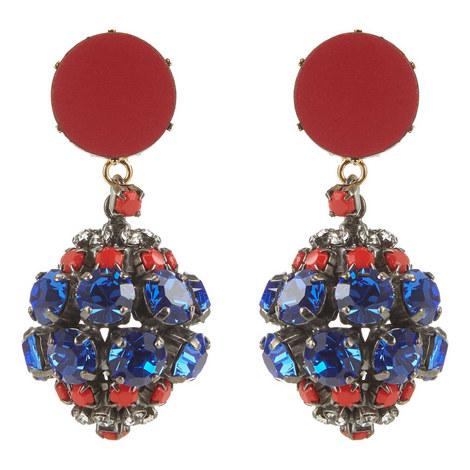 Crystal Sphere Drop Earrings, ${color}