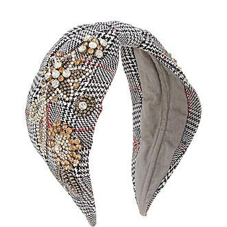 Flower Checkered Headband