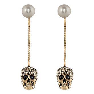 Pave Skull Earrings