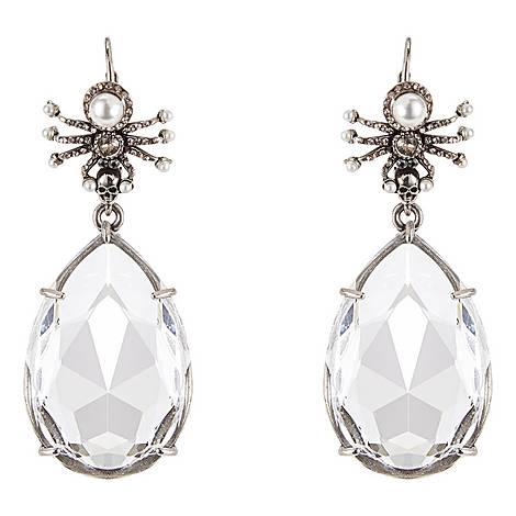 Spider Crystal Drop Earrings, ${color}