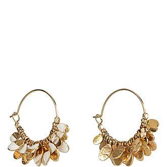 'Isabel' Charm Hoop Earrings